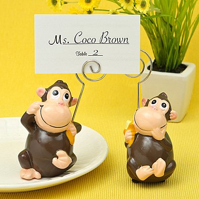 Hand Painted Ceramic Monkey place card/photo holders - 96 count
