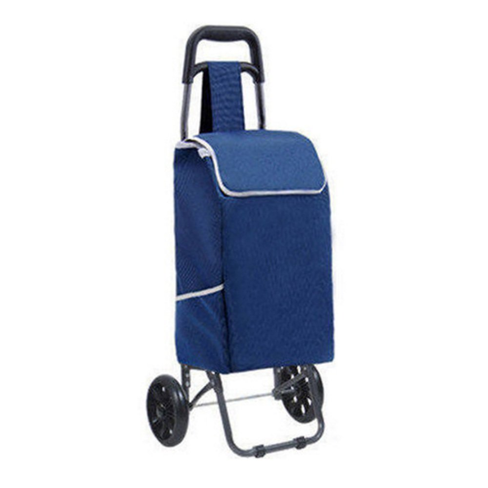 ZR-ショッピングカート ショッピングカートトロリーカート荷物折りたたみカートホームポータブル(青、紫、赤、ドット)-93 * 25 * 19センチメートル -ショッピングと持ち運び (色 : Blue) B07FM4S21R Blue Blue