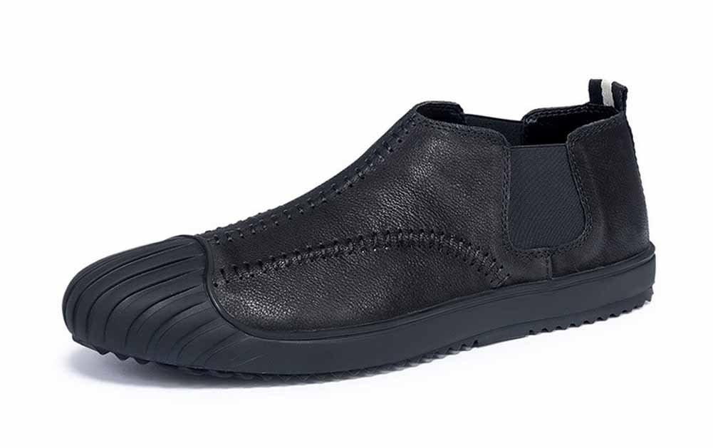 GLSHI Hombres Casual Mocasín Zapatos 2018 Primavera Verano Nuevo Inglaterra Chelsea Zapatos Moda Plano Zapatos (Color : Negro, Tamaño : 41) 41|Negro