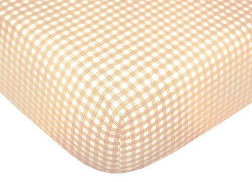 Tadpoles Gingham Fitted Crib Sheets, Set of 2 – Natural