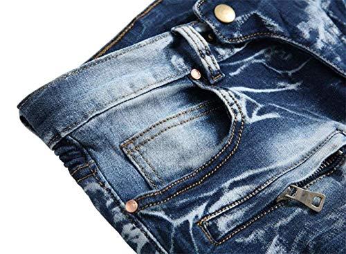 Motociclista Abbigliamento Denim Jeans Pantaloni Moto Uomo Sottili Di Dei Elasticizzati Svago Adelina Skinny 6501blau Hren 15n0qwIxZ8