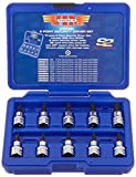 5 point tamper proof bit set - VIM Tools V5PSD 10-Piece 3/8