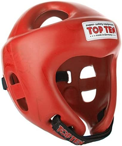 TopTen Kickboxing Headguard Fight Sparring Black Blue Red