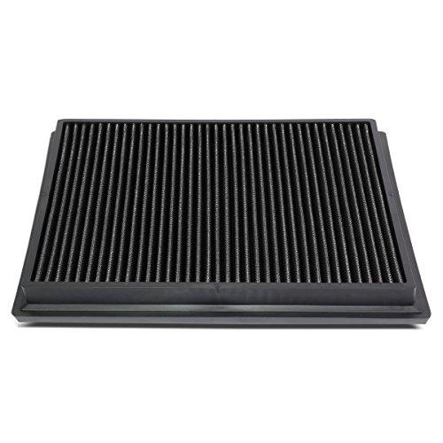 DNA Motoring AFPN-174-BK Black Panel Air Filter [For 15-18 Toyota Hilux Revo/Fortuner]