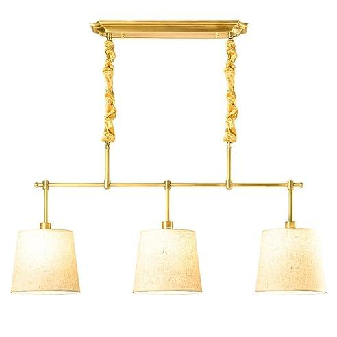 MMM  Europäischen Stil Kronleuchter, Kupfer Lampe Körper Tuch Lampenschirm  E14 * 3 Kronleuchter (