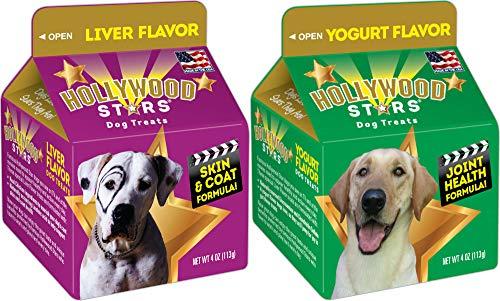 Hollywood Stars Dog Treats Bundle Pack Liver and Yogurt (Hollywood Stars Dog Treats)