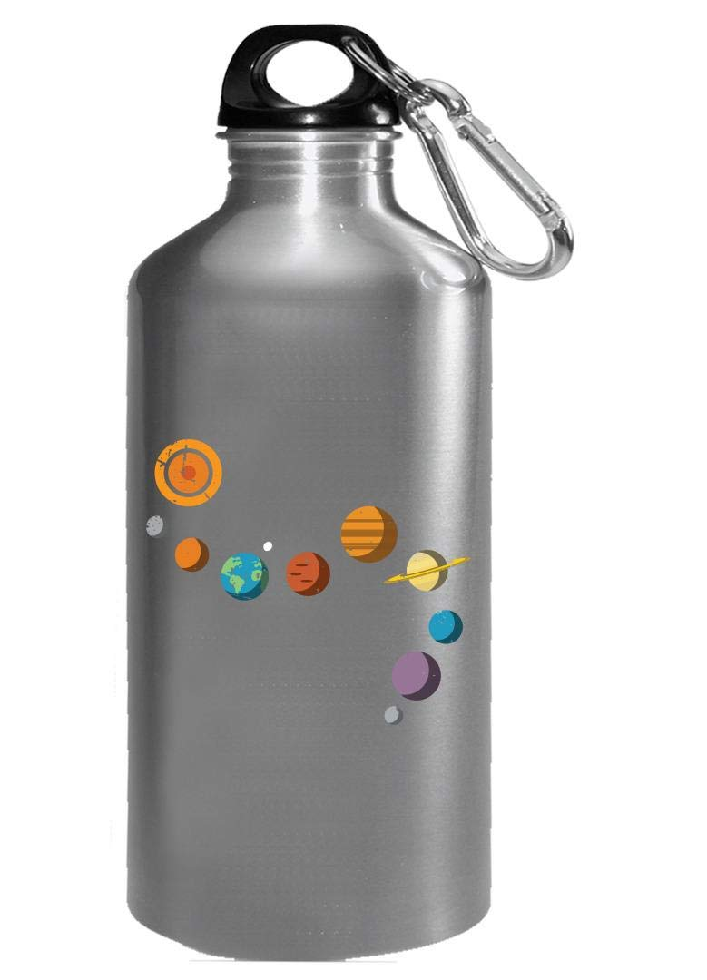 Funny Solar System - Planets Stars Space - Humor - Water Bottle