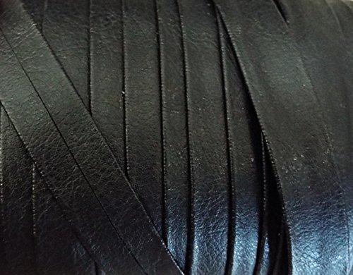 2 m Schrägband aus Lederimitat schwarz 60/30 mm