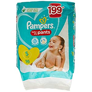 Pampers New Diapers Pants, Small (16 Count)