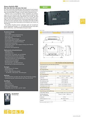 PRS1515SOL-PRS-1515 Laderegler 12/24V - 15/15 Ampere