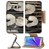 Liili Premium Samsung Galaxy Note 5 Flip Pu Leather Wallet Case Grill with grilled shrimp at a barbecue Note5 Image ID 22119846