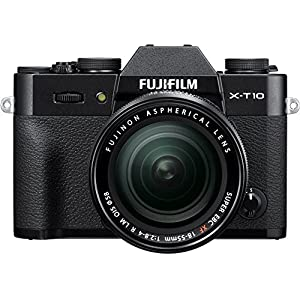 51Z33lEboCL. SS300  - Fujifilm X-T10 Black Mirrorless Digital Camera Kit with XF18-55mm F2.8-4.0 R LM OIS Lens (Old Model)