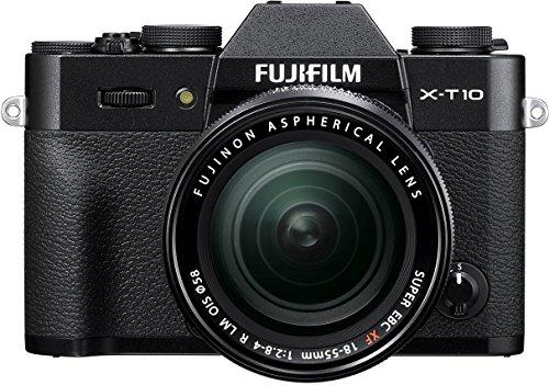 Fujifilm X-T10 Black Mirrorless Digital Camera Kit with XF18
