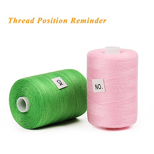 1000 Yards Sewing Kits Thread for Sewing Machine 24-Color Spools Thread HAITRAL Cotton Sewing Thread Sets