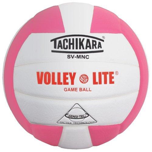 Tachikara SVMNC Volley-Lite Volleyball - Pink/White