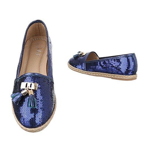 Ital-Design Women's Slippers Blue MbTfgF