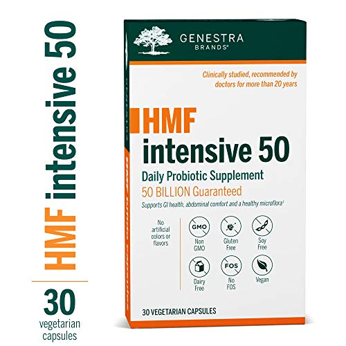 Genestra Brands - HMF Intensive 50 - Supports GI Health, Abdominal Comfort and Healthy Microflora* - 30 Vegetarian Capsules ()