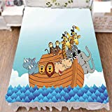 iPrint Bedding Bed Ruffle Skirt 3D Print,Sea Water Cartoon Characters Animal Giraffe,Best Modern Style Bed Skirt for Men and Women by 70.9''x94.5''