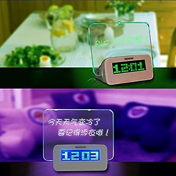 Cunclock 5 LED Foros con rotulador Reloj despertador digital con 4 puertos de USB Hub azul: Amazon.es: Hogar
