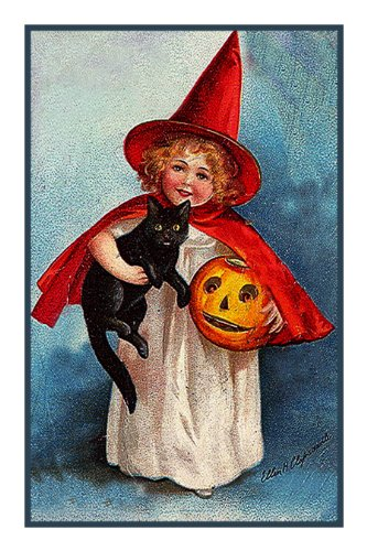 Orenco Originals Young Girl Witch Costume Halloween Counted Cross Stitch Pattern -