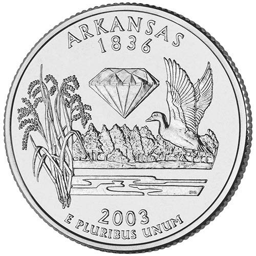 2003 S Clad Proof Arkansas State Quarter Choice Uncirculated US Mint