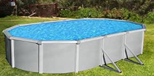 Blue Wave NB1651 Samoan 21'x41' Oval 52'' Steel Pool with 8'' Top Rail
