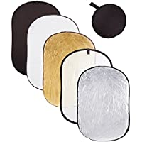 AW Photography 5in1 40x60(110x150cm) Collapsible Multi Lighting Reflector Set Photo Studio Outdoor