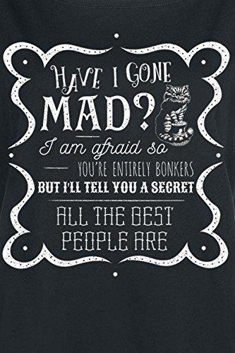 Alice im Wunderland Have I Gone Mad Girl-Shirt schwarz M
