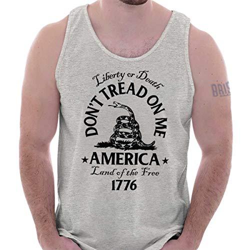 - Dont Tread on Me Snake Flag Political USA Tank Top Sport Grey
