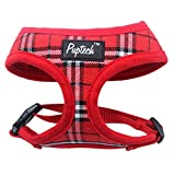 PUPTECK Soft Mesh Dog Harness Pet Puppy Comfort Padded Vest No Pull Harnesses, Red Medium