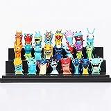 24pcs/set Cartoon Movie Slugterra Action Figures Doll Toys PVC Miniature Toy Figures 4-5cm/1.6-2inch Tall