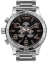 Grey/Rose Gold The 51-30 Chrono Watch by Nixon