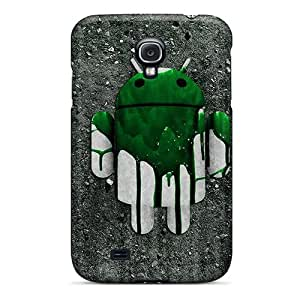 Fashionable Galaxy S4 Case Cover For Green Driod Protective Case