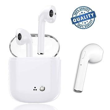 Auriculares Bluetooth, Auriculares Inalámbricos, IPX4 a Prueba de Sudor Auriculares Deportivos, Estéreo Envolvente, para iPhone Samsung y otros Teléfonos ...