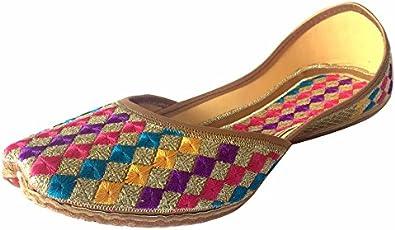 Step n Style Womens Phulkari Punjabi Jutti Khussa Shoes Ethnic Shoes Rajasthani Mojari