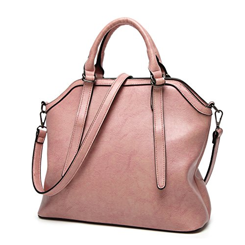 Bolsos mujer bolso de hombro paquete diagonal de Europa y los Estados Unidos de moda Bolsos Bolso salvajes, marrón light pink