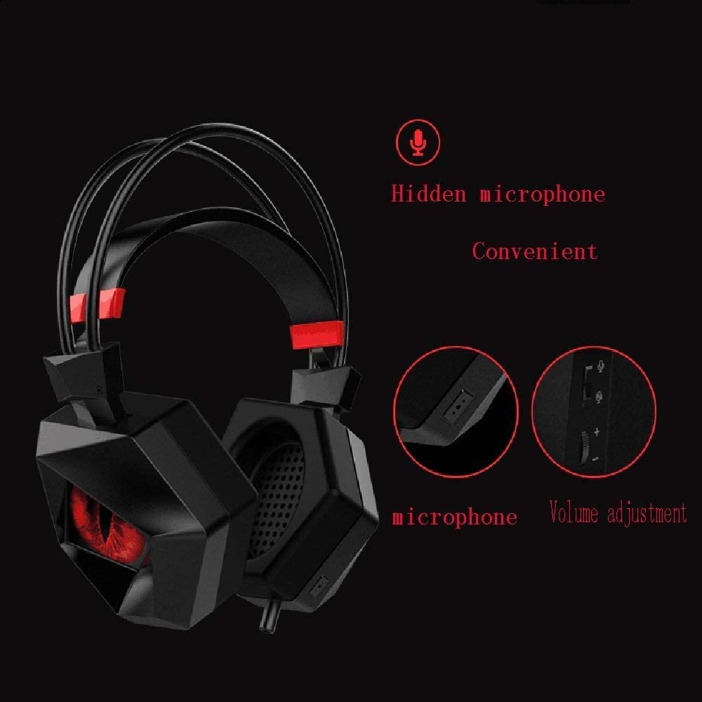 USB Interface Headset for The Game to Create A Black Noise Reduction Compatible Suitable for Music//Daily Leisure//Gaming Headset GSUMMER Gaming Headset