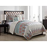VCNY Home Andros 4 Piece Reversible Quilt Set, Twin XL, Green