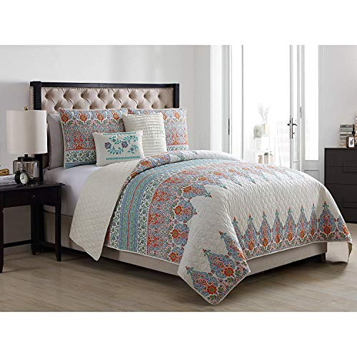 - VCNY Home Andros 4 Piece Reversible Quilt Set, Twin/X-Large, Green