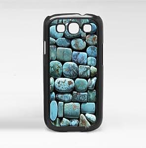 Pretty Turquoise Rocks Hard Snap on Case (Samsung Galasy S3 I9300 III)