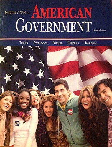 INTRO.TO AMERICAN GOVERNMENT Paperback 2014