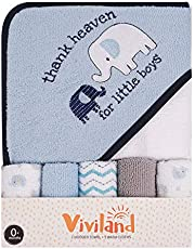 "Viviland Baby Hooded Towel, Soft Touch and Strong Absorption Washcloths, Great Gift for Infants and Newborn, 26""×30"", 6 Pack"