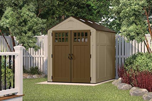 Suncast bms6810d everett storage shed 6 x 8 39 lawn for Garden shed uae