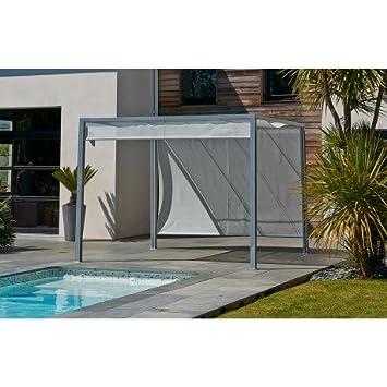 Pergola Design Sun Blinds Aluminium Gazebo 3x3 m Grey Textilene ...