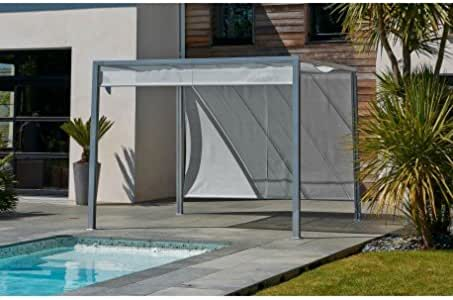 DCB Pergola brise-Soleil Venezia 3 x 3 m en Aluminio Gris y ...