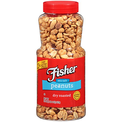 (FISHER Snack, Dry Roasted Peanuts, , 22 oz (Pack of 12))