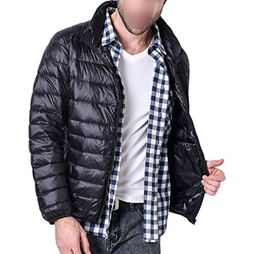 Leggero Strato Spesso Collare Uomini Stanno Antivento Nero Ultra Outwear Parka Piumino L'anatra Haodasi 5Pqp6ndq