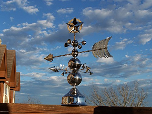 Table Top Weathervane with Star finial and Indian Arrow (Weathervane Finials)