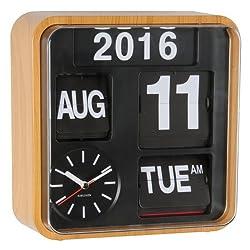 Karlsson Wall Clock - Mini Flip - Square Wood Clock