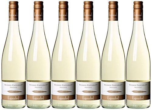 Weingut Espenhof weisses Espenblatt QbA fruchtig Cuvée 2014/2015 halbtrocken (6 x 0.75 l)